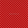 Cotton Print Yarmulkes Dot - Red