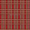 Cotton Print Yarmulkes Holiday - Red