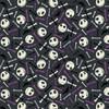 Disney Yarmulkes Cotton - GLOW IN THE DARK - Jack is Back - Skull & Bone - Purple