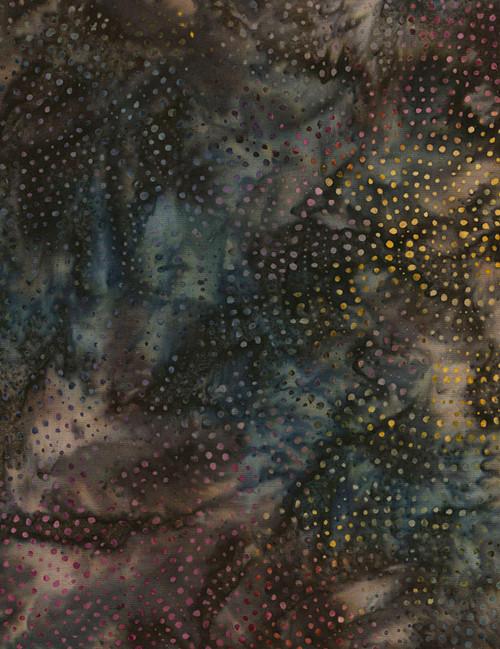 "Cotton Print Yarmulkes 106"" Wide Batik Backing - EARTH"