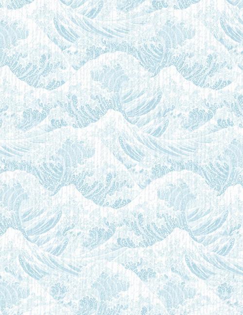 Cotton Print Yarmulkes Wave - POWDER