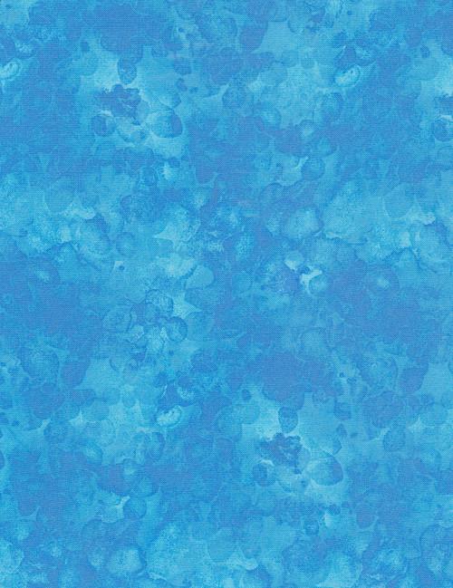 Cotton Print Yarmulkes Solid-ish Watercolor Texture - AQUA