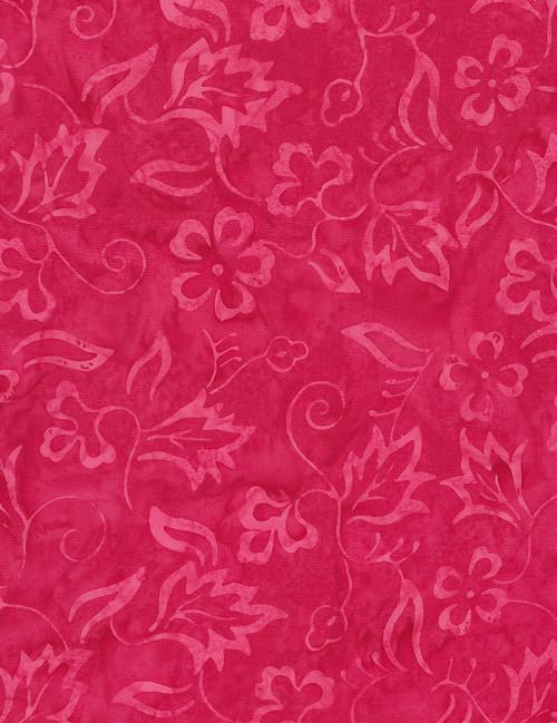Cotton Print Yarmulkes Delicate Vine Batik - PEONY