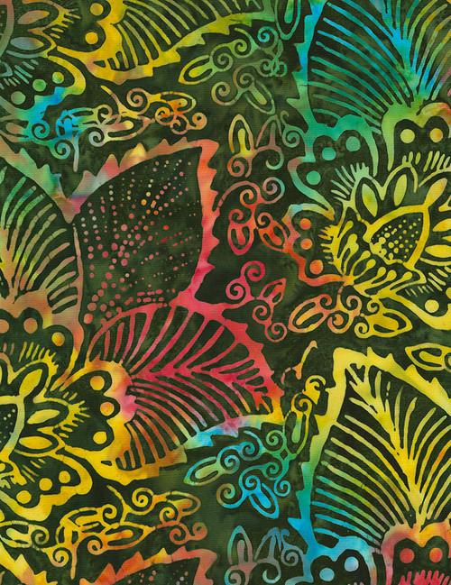Cotton Print Yarmulkes Island Batik - JUNGLE