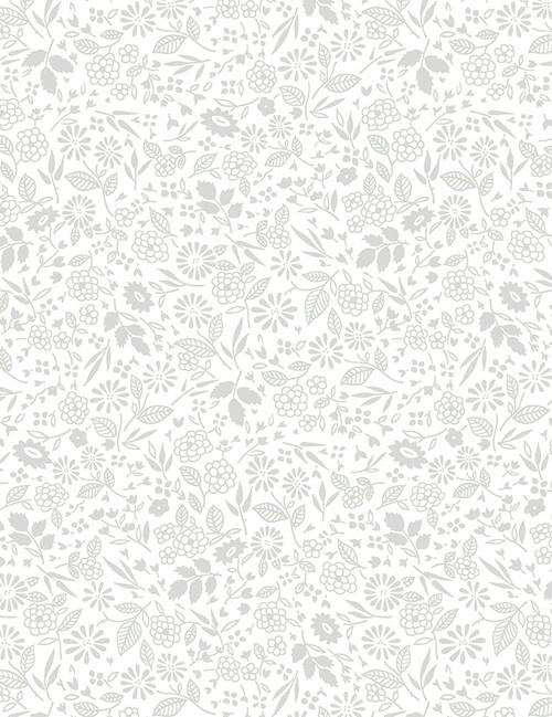 Cotton Print Yarmulkes Mini Garden - WHITE