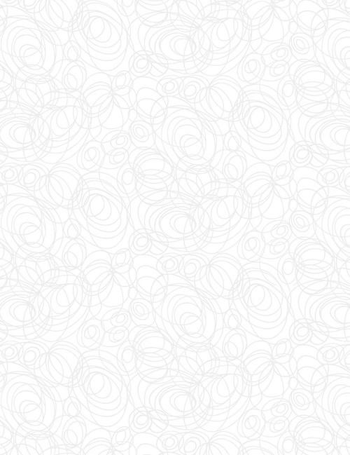 Cotton Print Yarmulkes Scribble - WHITE