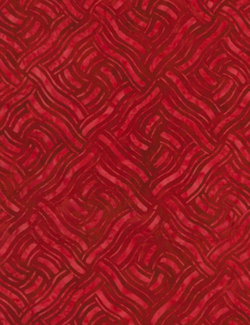 Cotton Print Yarmulkes Knit Batik - RED