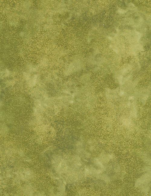 Cotton Print Yarmulkes Shimmer Moss