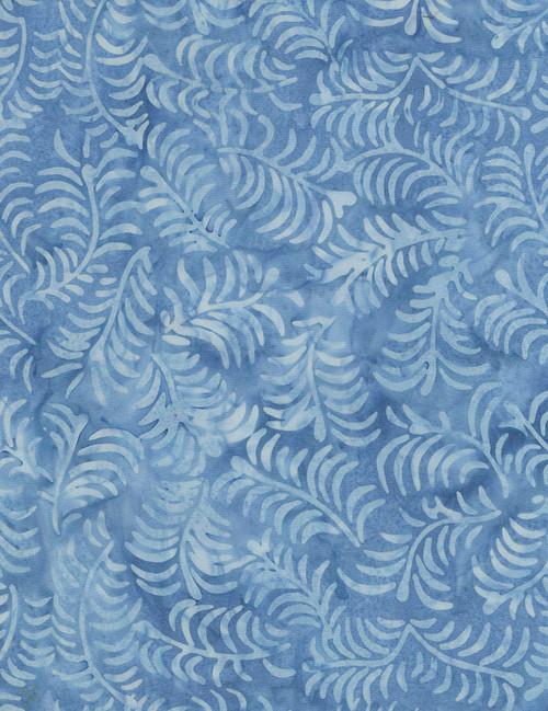 Cotton Print Yarmulkes Ferns - SKY