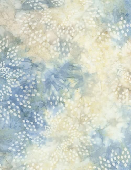 Cotton Print Yarmulkes Star Drops Batik - STONE