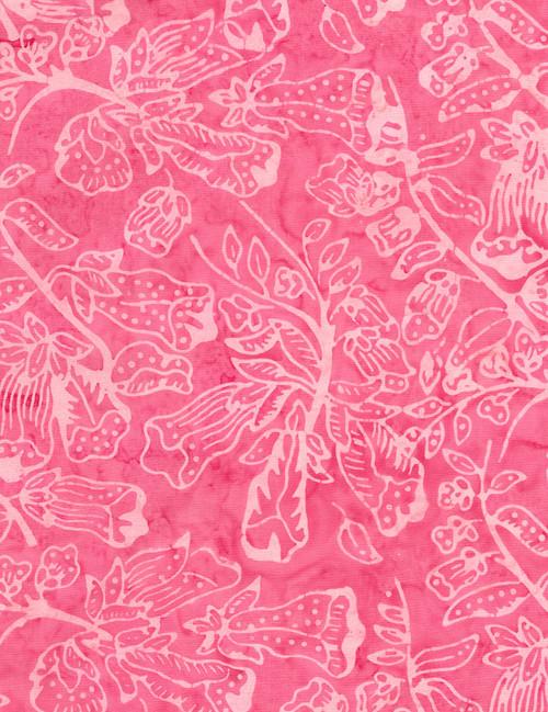 Cotton Print Yarmulkes Flower Bloom Batik - PINK