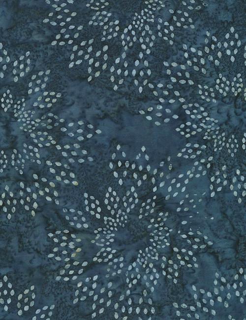 Cotton Print Yarmulkes Star Drops Batik - NAVY