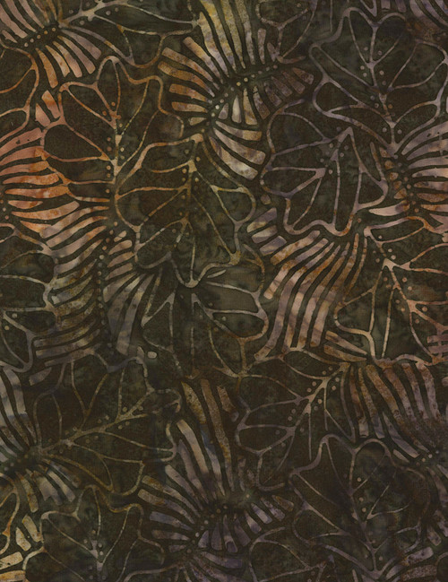 Cotton Print Yarmulkes Forest Floor Batik - FOREST