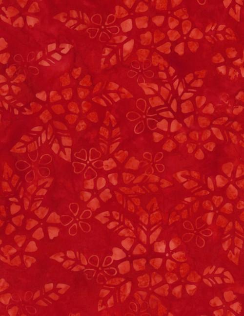 Cotton Print Yarmulkes Bloom Batik - SCARLET
