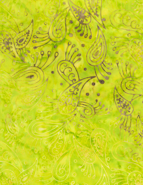 Cotton Print Yarmulkes Raindrop Batik - NEON