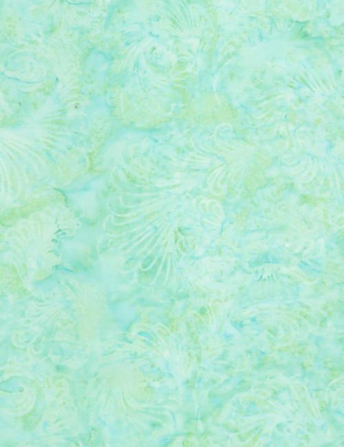 Cotton Print Yarmulkes Feathers Batik - MINT