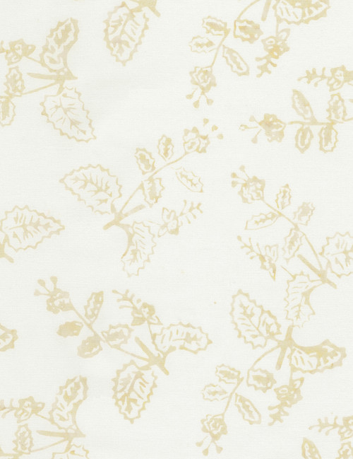 Cotton Print Yarmulkes Delicate Plant Batik - LATTE