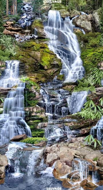 "Cotton Print Yarmulkes 24"" Waterfall Panel - MULTI"