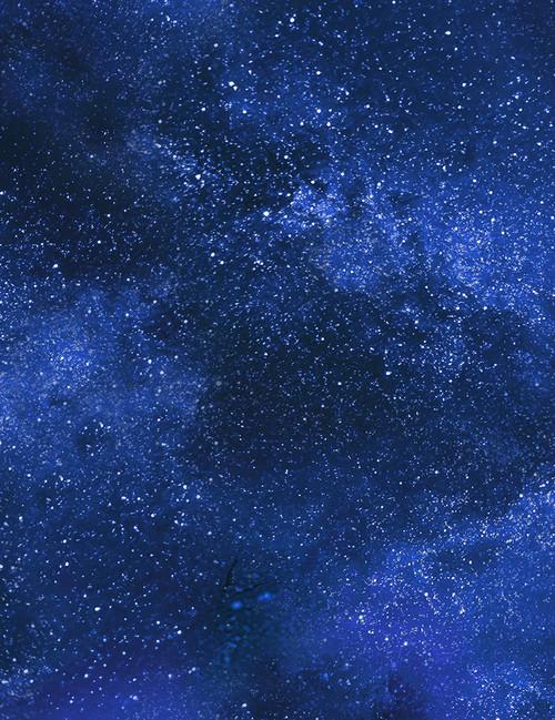 Cotton Print Yarmulkes Starry Night Sky - ROYAL