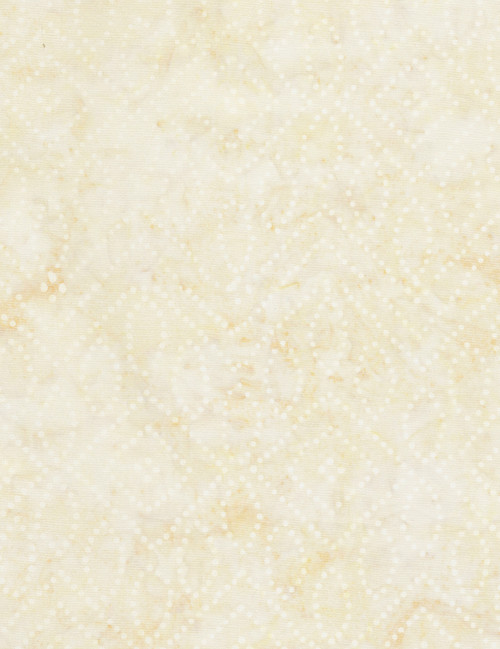 Cotton Print Yarmulkes Dot Art Batik - BUFF