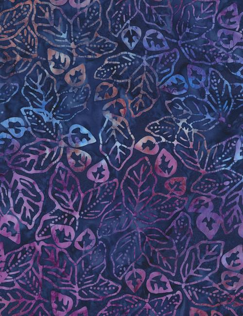 Cotton Print Yarmulkes Tropic Batik - AMETHYST