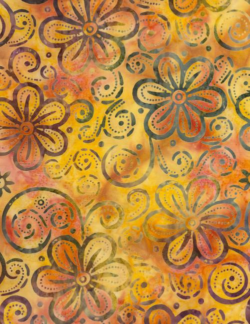 Cotton Print Yarmulkes Hawaii Batik - NECTAR