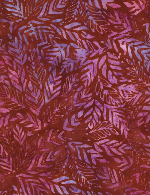 Cotton Print Yarmulkes Outback Batik - GARNET