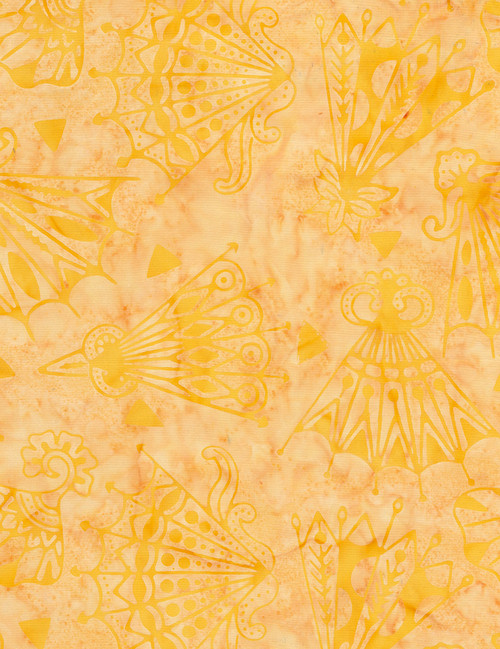 Cotton Print Yarmulkes Fan Batik - SUNSET