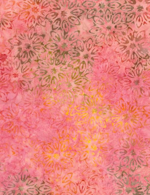 Cotton Print Yarmulkes Perennial Batik - FLAMINGO