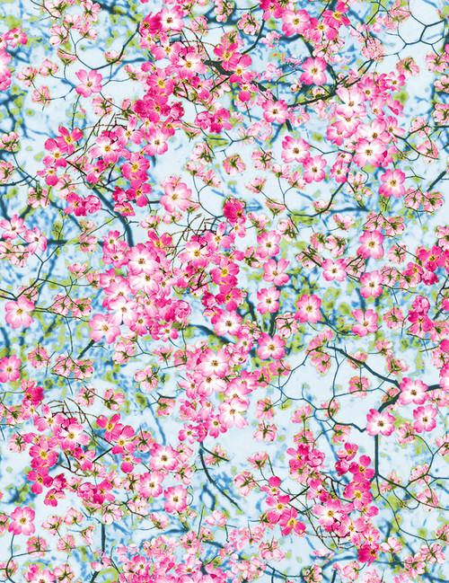 Cotton Print Yarmulkes Flowery Sky - SPRING