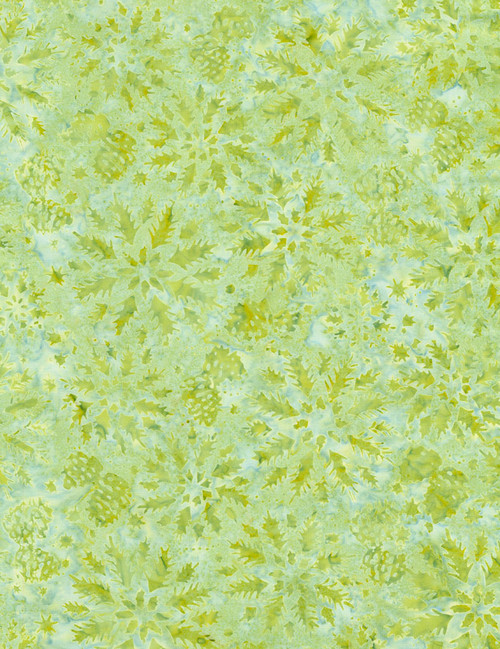Cotton Print Yarmulkes Wintry Mix Batik - PEAR