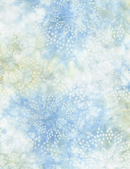 Cotton Print Yarmulkes Star Drops Batik - FROST