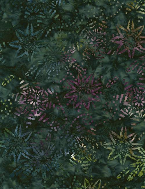 Cotton Print Yarmulkes Firework Batik - MALACHITE