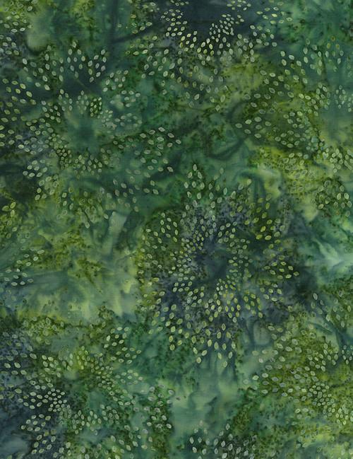 Cotton Print Yarmulkes Star Drops Batik - PERIDOT