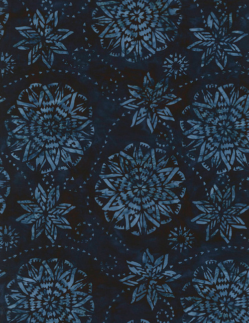 Cotton Print Yarmulkes Dream Batik - MIDNIGHT