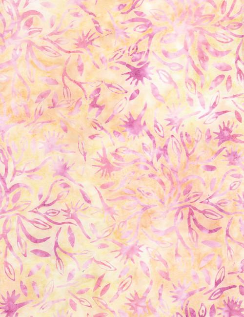 Cotton Print Yarmulkes Foliage Batik - ROSE