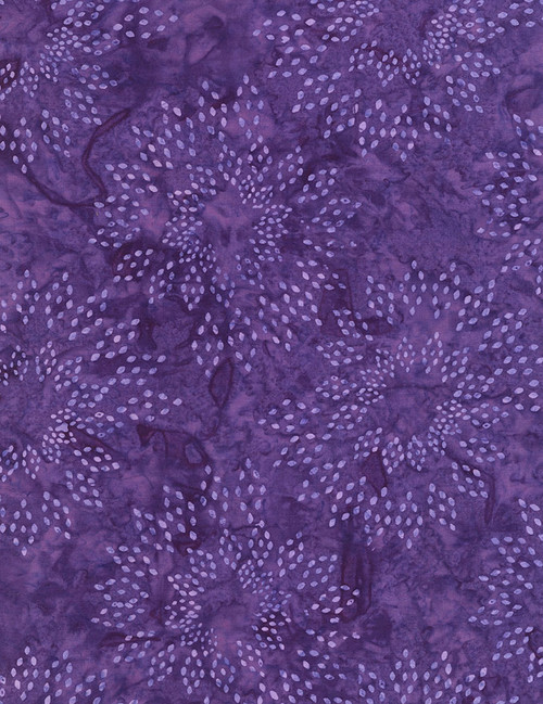 Cotton Print Yarmulkes Star Drops Batik - GRAPE