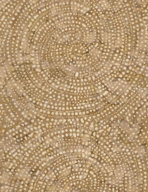 Cotton Print Yarmulkes Dotty Spiral Batik - STONE