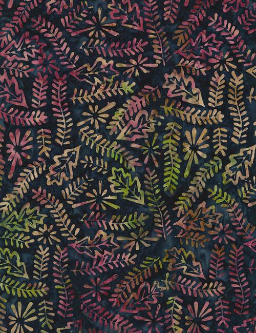 Cotton Print Yarmulkes Patchwork Batik - NAVY