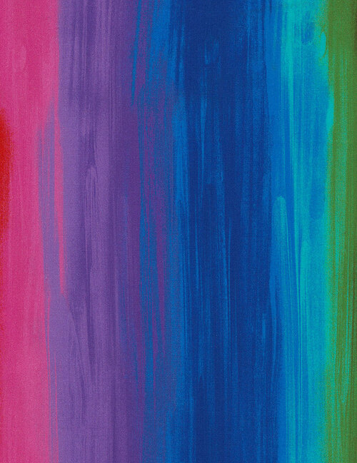 Cotton Print Yarmulkes Rainbow Stripe - RAINBOW