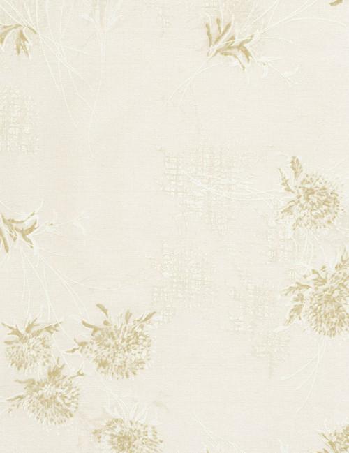 Cotton Print Yarmulkes Dandelions - BEIGE