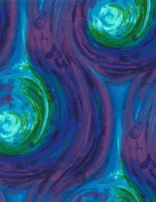 Cotton Print Yarmulkes Painted Swirl - BRITE
