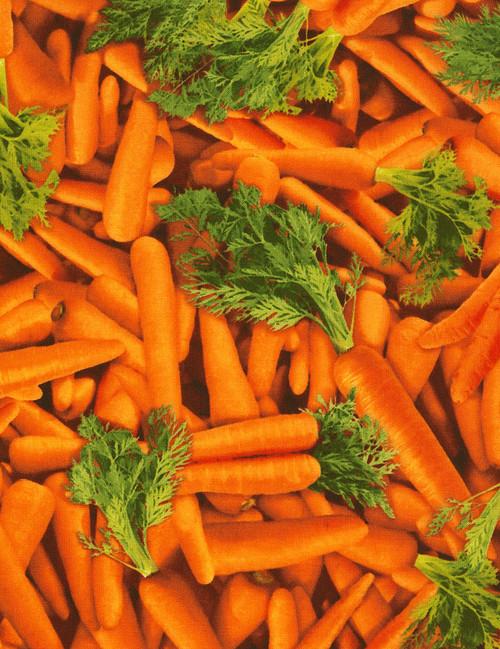 Cotton Print Yarmulkes Carrots - ORANGE