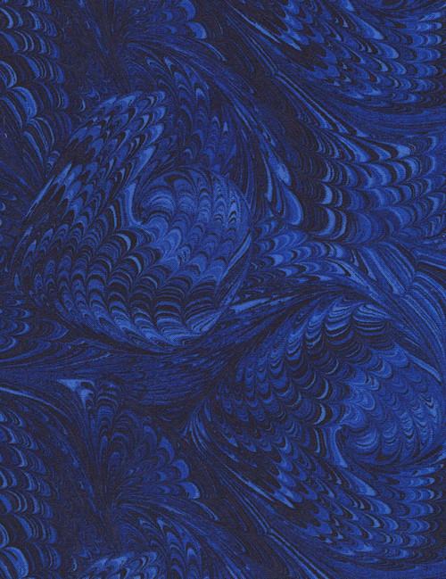 """Cotton Print Yarmulkes 108"""" Marble - ROYAL"""