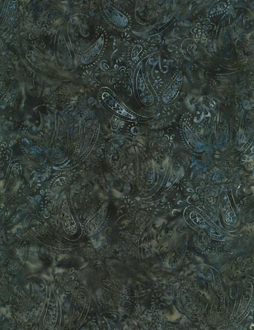 "Cotton Print Yarmulkes 106"" Wide Batik Backing - QUARRY"