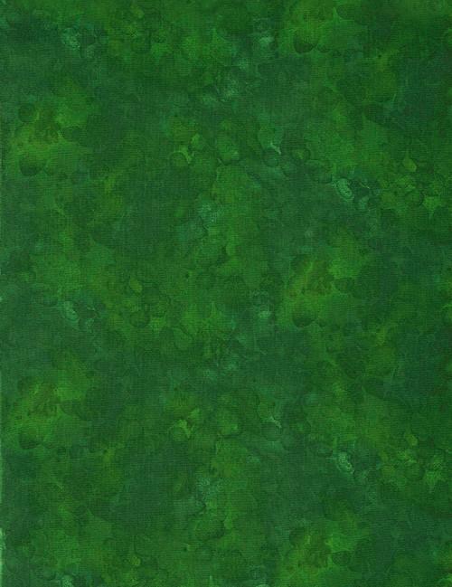 Cotton Print Yarmulkes Solid-ish Basic - GREEN