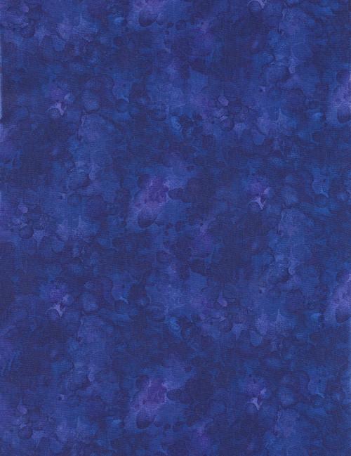 Cotton Print Yarmulkes Solid-ish Basic - ROYAL