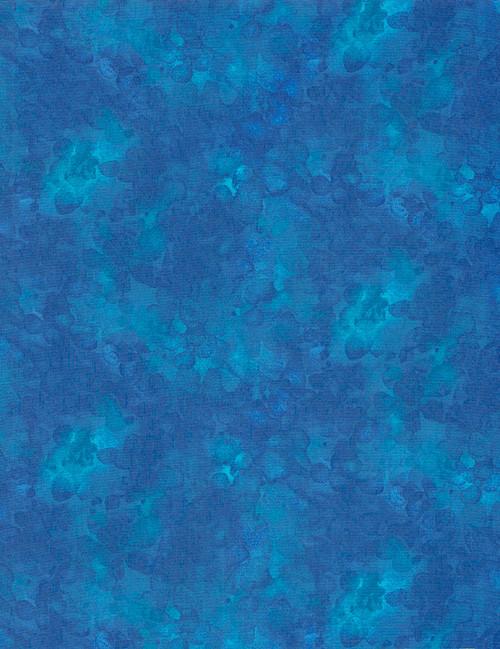 Cotton Print Yarmulkes Solid-ish Basic - SAPPHIRE