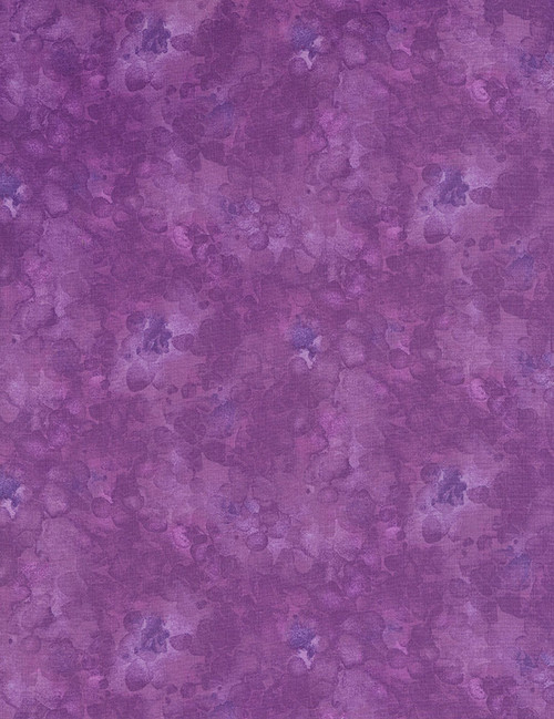 Cotton Print Yarmulkes Solid-ish Basic - GRAPE