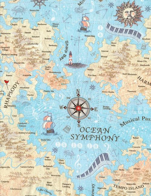 Cotton Print Yarmulkes Music Map - SEA